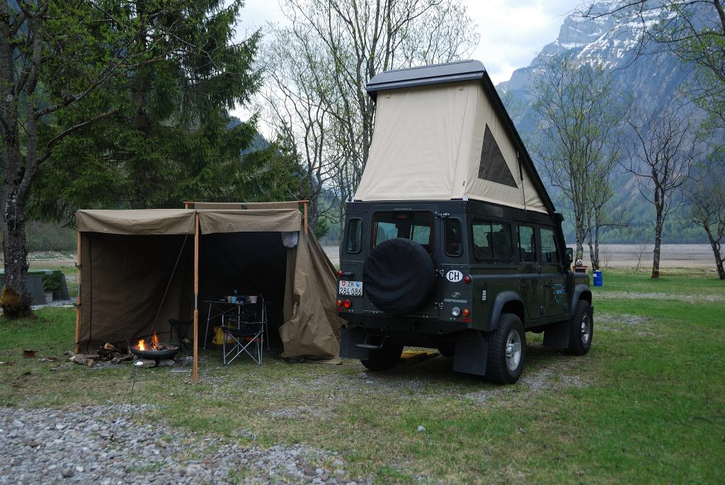 Landrover Camp sand