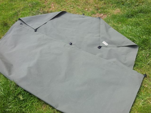 Canvas Tarp khaki green 2m x 3m