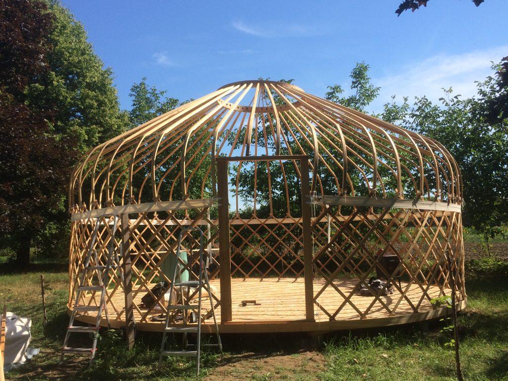 Turkmen Yurt frame from Ash
