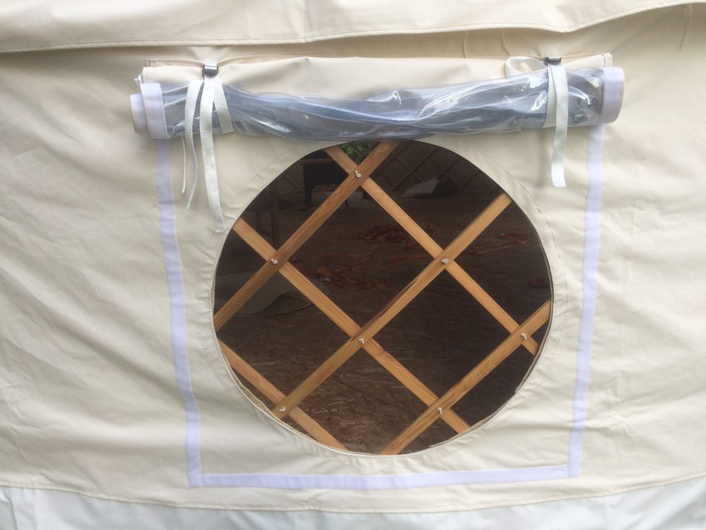 Round Yurt Window open