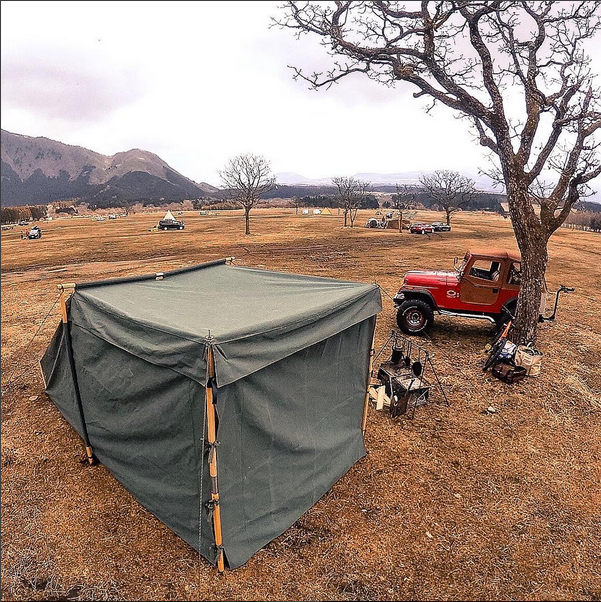 Landrover Tent with Front Panel closed